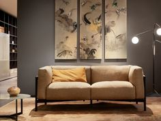 Contemporary past Taiki by Chiara Andreatti becomes a collection with the new two-seater sofa that takes its place alongside the easy Oriental, Data Sheets, Technical Drawing, Sofa Design, Wooden Frames, Sofas, Love Seat, Relax, Cushions