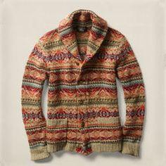 Fair Isle Wool-Blend Cardigan - RRL Shop All - Ralph Lauren France