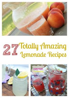 Are you a fan of lemonade? It's the quintessential summertime beverage! Try some of these totally awesome lemonade recipes to mix up your doldrums.