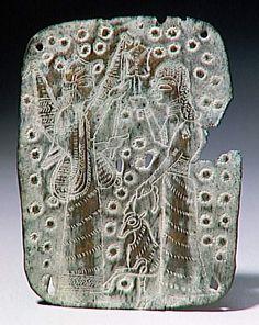 Plaque à décor incisé | Urartu |  8e siècle av J.-C.