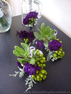 Purple Wrist Corsages for Weddings   Found on theweddingdecorators.ca