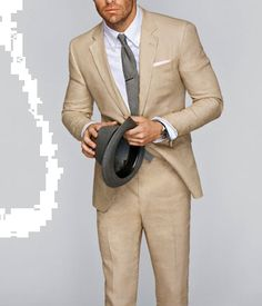 Linen suit's for a summer wedding...I think so!