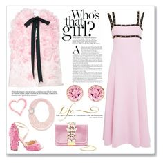 """""""Pink"""" by sukia ❤ liked on Polyvore featuring Versace, GEDEBE, Andrew Gn, IBB, Miu Miu and WALL"""