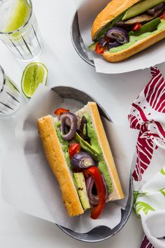 Roasted Vegetable Sandwiches with Creamy Chimichurri Spread