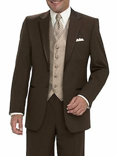 brown tuxes for the men
