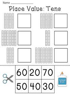 Place Value Worksheets (Base 10 blocks numbers practice