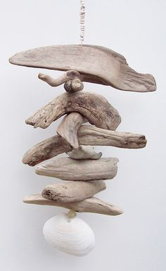 Driftwood mobile - Nautical Decor - Beautiful driftwood Art Mobile