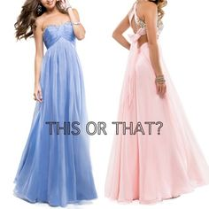 Choose your fave pastel: pink or blue from our Spring 2014 Collection? #love #prom #promdress #pink #blue #brandnew