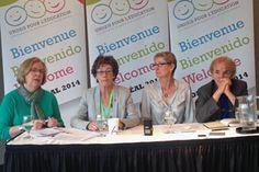 Uni(e)s pour l'éducation de qualité - Conférence de presse tenue dans le cadre de la Conférence mondiale pour l'éducation tenue à Montréal.
