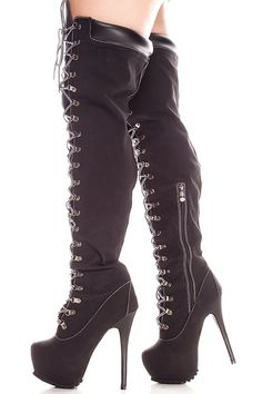 BLACK FAUX LEATHER FRONT LACE 6 INCH BOOTIES,Women's Boots-Sexy Boots,Heel Boots,Flat Boots,Over The Knee Boots,Knee High Boots,Thigh High Boots,Fringe Boots,Suede Fringe Boots,Rider Boots,Combat Boots,High Heel Boots,Platform Boots,Black Suede Boots,Gladiator Boots,Leather Boots,Wide Calf Boots