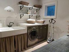 Basement laundry room makeover - basement laundry room ideas - basement makeover - laundry room essentials