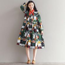 Fashion Autumn Chinese Style Print 2017 New Women Dresses Long Sleeve V-Neck Plus Size Loose Cotton Linen Vintage Lady Dress     Tag a friend who would love this!     FREE Shipping Worldwide     Buy one here---> http://oneclickmarket.co.uk/products/fashion-autumn-chinese-style-print-2017-new-women-dresses-long-sleeve-v-neck-plus-size-loose-cotton-linen-vintage-lady-dress/