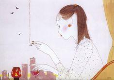 Illustration by Seiichi Hayashi for the calendar Modern Beauty.