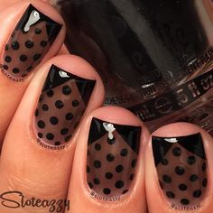 Luv this sheer black polish she made!Definitely giving it a try