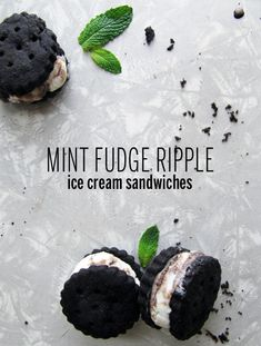 Mint Fudge Ripple Ice Cream Sandwiches from @Take A Megabite // Megan