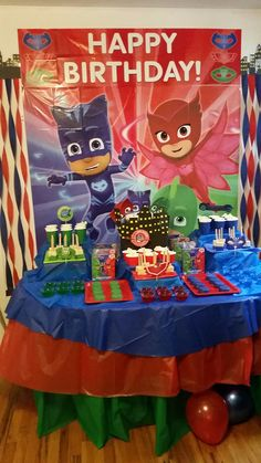 Pj Mask Party Decorations Pj Masks Birthday Cake  My Creations  Pinterest  Pj Masks