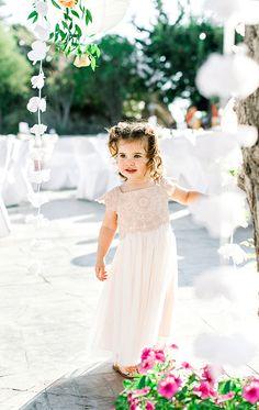Παραμυθένια κοριτσίστικη βάπτιση με θέμα floral blossom - EverAfter Girls Dresses, Flower Girl Dresses, Girly, Wedding Dresses, Floral, Flowers, Fashion, Dresses Of Girls, Women's