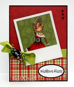 """Paper Perfect Designs by Kim O'Connell: Stamping Bella Uptown Girl """"Eve Under the Mistletoe"""""""