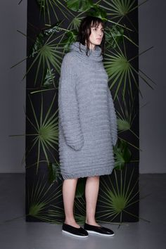 Anna Dudzińska, CONCRETE GREEN, aw2015, sweater GOYA. To download high or low resolution product images view Mondrianista.com (editorial use only).