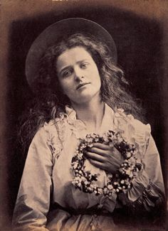 "Julia Margaret Cameron, The May Queen 1874, ""For I'm to be queen o' the May Mother"" ""I'm to be queen o' the May"""