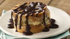 Boston Cream French Toast - how about something extra special for a holiday brunch?  This recipe only has 6 ingredients, 20 min. prep time and it bakes for 30 - 33 mins. Serves 10.