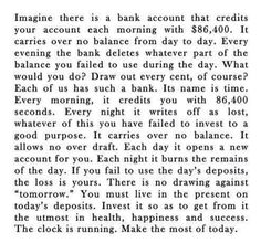 Read this every morning.