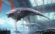 """""""Whale Ship"""" by #SamBez. #sciencefiction #scifi #spaceship"""