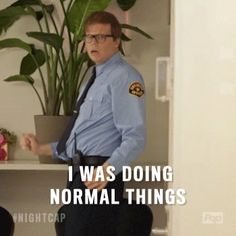 phil security normal guard poptv pop tv nightcap jeff hiller #humor #hilarious #funny #lol #rofl #lmao #memes #cute