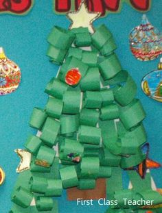 Classroom DIY: DIY Paper-strip Christmas Trees