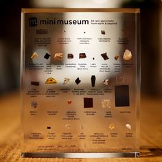 Mini Museum, because tiny fragments of things are still things.
