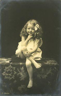 Cute little blonde girl 1907 postcard                                                                                                                                                      More                                                                                                                                                     More