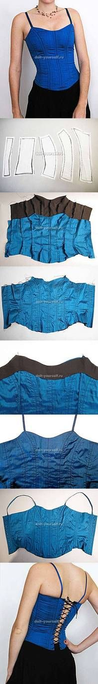 diy, stylish corset, tutorial, handmade