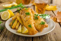 Recettes: Fish and chips du chef, Daniel Vézina. Air Fryer Fish Recipes, Air Frier Recipes, Pork Chop Recipes, Healthy Chicken Recipes, Healthy Menu, Fish And Chips Rezept, Air Fried Fish, Fish Batter Recipe, Usda Food