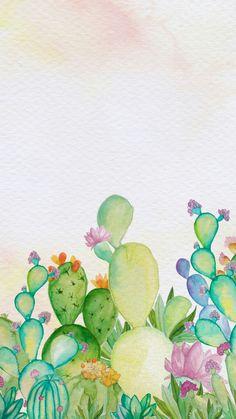 60 Ideas Wall Paper Iphone Art Paintings Flower Patterns For 2019 Flower Phone Wallpaper, Wallpaper Iphone Cute, Wallpaper Backgrounds, Cactus Wallpaper, Cool Wallpapers For Phones, Cute Wallpapers, Watercolor Wallpaper, Watercolor Paintings, Art Paintings
