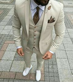 Custom Made Men Wedding Suit Prom Tuxedo Slim Fit 3 Piece Groom Wear Blazer Custom Made Men Wedding Suit Prom Tuxedo Slim Fit 3 Piece Groom Wear Blazer 36 Groom Suit That Express Your Unique Styles and…Boho Wedding Dresses custom madeTHE DROP Dress Suits For Men, Suit And Tie, Men Dress, Prom Suits For Men, Men Wedding Suits, Tan Prom Suits, Best Mens Suits, Tan Suit Men, Mens Suits Style