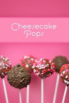 Cheesecake Pops - making these this year for the family Christmas!  The varieties I am making: turtle, chocolate cherry, chocolate with peppermint and double chocolate.