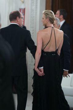10.10.12  Prince Albert and Princess Charlene, in Gucci F12, at 2012 Ballo del Giglio at Palazzo Pitti in Florence