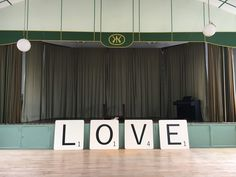 Giant Scrabble Love Letters from Living the Cream 1m tall/wide
