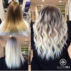 """Ein dreifaches """"Hipp, Hipp, Hurra!"""" an @alennmj für diese Blond-Transformation. Möglich macht's Olaplex, Dein """"one and only"""" für so gesunde Farbergebnisse! :-)"""