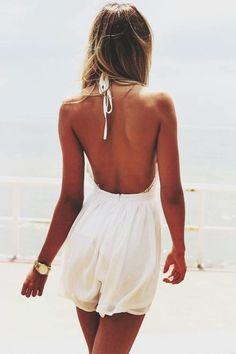 White Playsuit With a Tan | Summer Outfit Inspiration