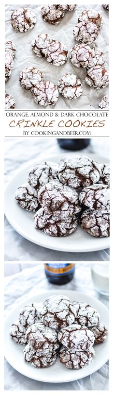 Orange, Almond and Dark Chocolate Crinkle Cookies #christmas #christmasbaking #christmascookies | www.cookingandbeer.com | @jalanesulia