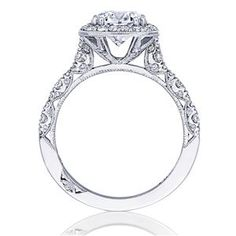 TACORI Halo 18K - White Gold Diamond Engagement Ring HT2560CU75 #ArthursJewelers