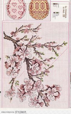 This Pin was discovered by Eli Tiny Cross Stitch, Cross Stitch Tree, Cross Stitch Cards, Cross Stitch Flowers, Cross Stitch Designs, Cross Stitching, Cross Stitch Embroidery, Embroidery Patterns, Hand Embroidery