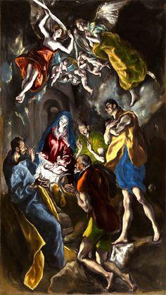 El Greco, La Adoración de los pastores 319 cm x 180 cm 1612 - 1614 on ArtStack #el-greco #art
