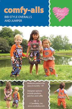 Pattern BibStyle Overalls and Jumper by GabbysQuiltsNSupply, $10.25