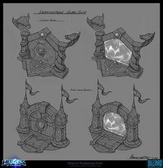 ArtStation - Heroes Of The Storm - Gate Concept Art, David Harrington