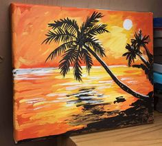 A personal favorite from my Etsy shop https://www.etsy.com/listing/518858761/tropical-sunset-beach-palm-tree
