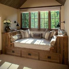 I would love a reading nook like this! Add bookshelves on either side...perfection.