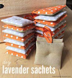 sewing tutorial for lavander sachet ♥