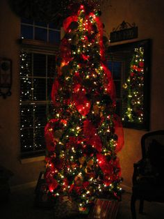 Christmas Tree Ribbon Design Ideas, Pictures, Remodel, and Decor